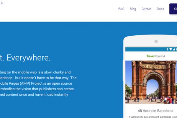 Le projet Google AMP HTML