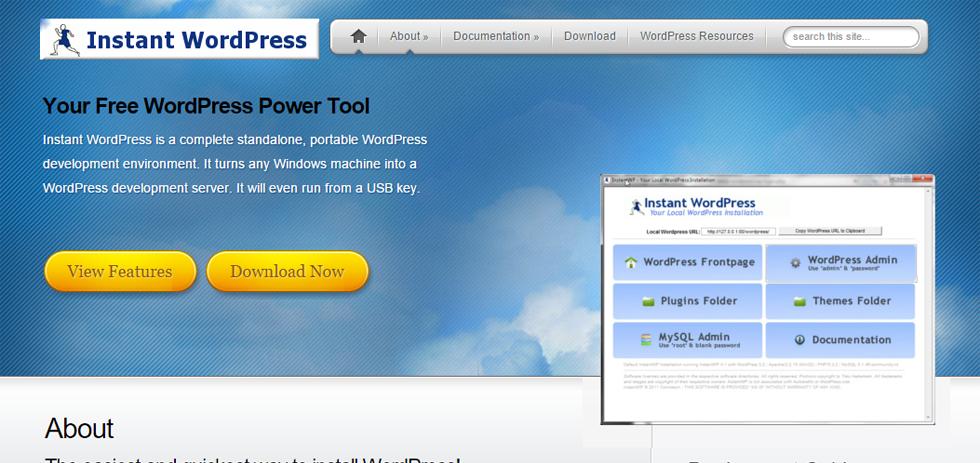Instant WordPress - installer facilement WordPress sur Windows