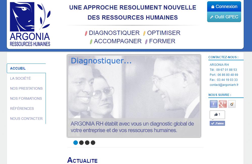 création de site internet pour la société Argonia RH