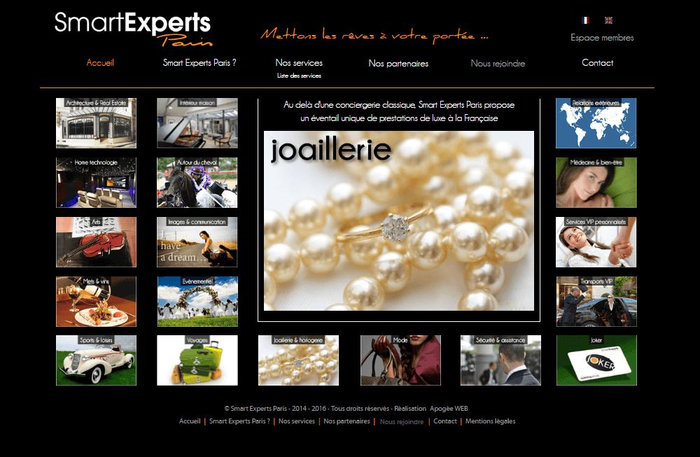 création de site internet pour la société Smart Experts Paris